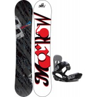 Morrow-fury-snowboard-with-sapient-stash-bindings Morrow Fury Snowboard With Rome United Bindings