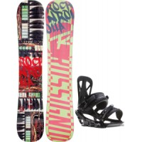 Rossignol-rocknrolla-amptek-snowboard-with-rome-united-bindings Rossignol Retox Amptek Snowboard With Rome United Bindings