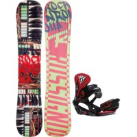 Rossignol-rocknrolla-amptek-snowboard-with-sapient-wisdom-bindings Rossignol Retox Amptek Snowboard With Rome United Bindings