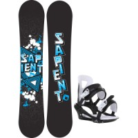 Sapient trust wide snowboard with chamonix savoy bindings Sapient Mason Snowboard With Sapient Wisdom Bindings